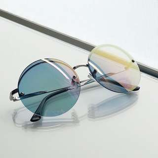 ASOS Round Sunglasses with High Flash Lens