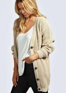 Chunky Knit Grandpa Cardigan Size S/M