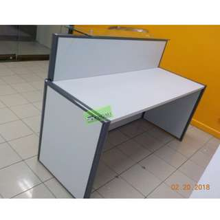 RD-377 CUSTOMIZE RECEPTION TABLE GLASS COUNTER TOP