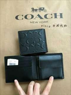 New Authentic Coach Men Wallet