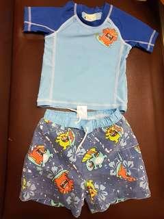 Bunz Kidz rashguard and shorts