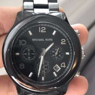 Michael Kors black ceramic watch