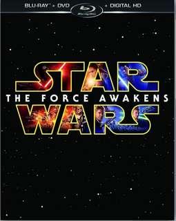 Star Wars Episode VI The Force Awakens Blu Ray + Dvd + bonus disc w/Slipcover & Digital Copy