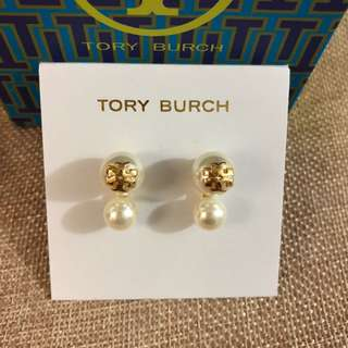 TB Double Pearl Earrings
