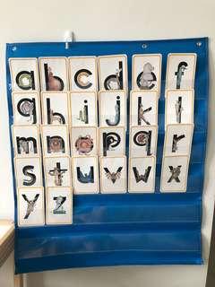 Alphabet letter cards (Zoophonics)