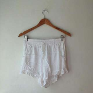 White Boho Short