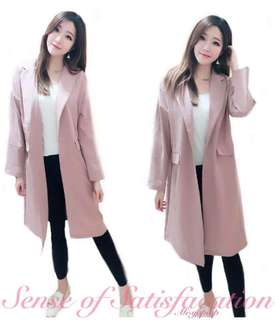 🚚 熱銷現貨$790今天訂明天出❤️   #韓妞最愛高品質粉嫩掀蓋口袋長版西裝外套