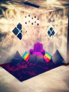 Designer purple lounge