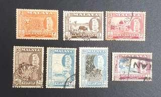 Malaya Kelantan stamps