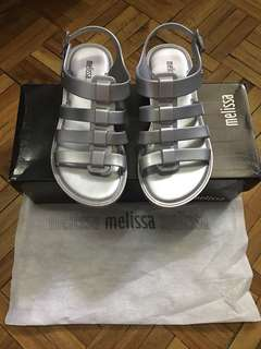 Flash Sale!!! AUTHENTIC MELISSA FLOX METALLIC SILVER