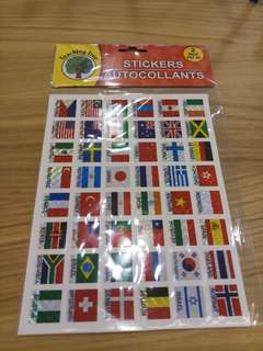 Flag stickers