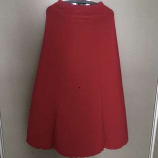 Maroon red long skirt