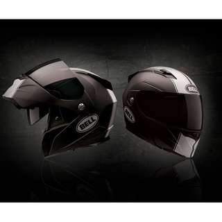 Bell Revolver Evo SIZE LARGE ONLY Adult Modular Flip Up Open Up Street Motorcycle Motorbike Helmet Rally Matte Black White (D.O.T. Certified) Best everyday helmet with tinted sun visor shield