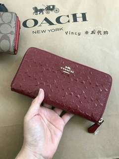 (clearance stock)New Authentic Coach Long Wallet