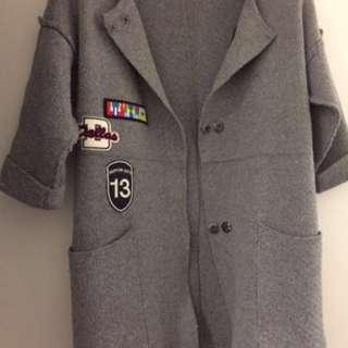 Coat Cardigan Grey 2 Sides One Size (AU 6-10)