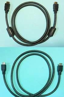 兩條 1.5 米 HDMI 線 (新淨)