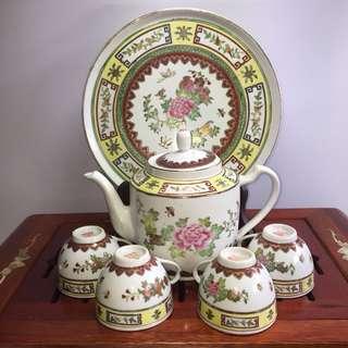 Hand painted tea set