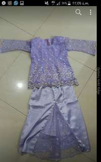 kurung lace kids 4y