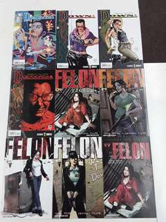 Felon/Down (Minotaur 2001) Comics Set