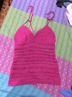 Knitted pink summer top