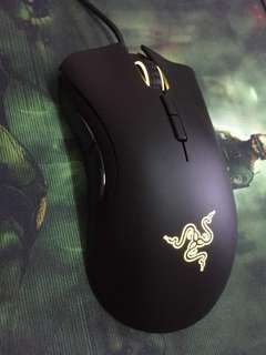 Razer gaming keyboard and mouse set.
