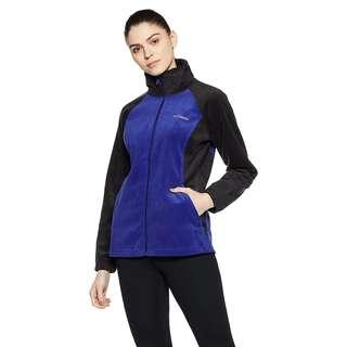 Columbia Women's Dotswarm II Fleece Full Zip Jacket, Black/Dynasty, Large