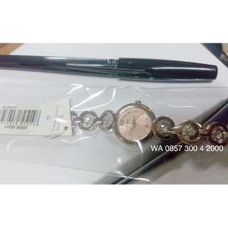 Alba AC3S43X1 Ladies Jam Tangan Wanita AC3S43 Bundar Pink Silver Original