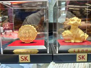 Pure gold plated ornament by SK