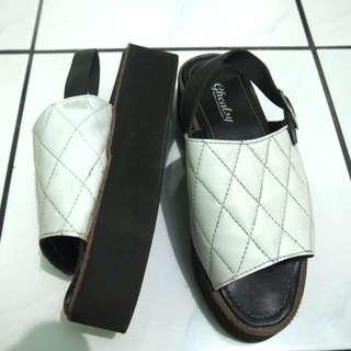 White platform shoes
