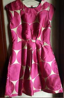 KATE SPADE PRINTED SLEEVELESS COCKTAIL DRESS, PINKsize 4