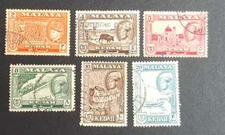 Malaya Kedah stamps