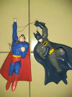 Batman Superman Christmas Ornament