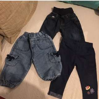 Bundle Of Next, Mothercare Baby Jeans Pants 3-6m