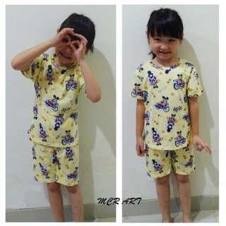 setelan import anak mickey, grosir baju tidur impor anak cowok cewek karakter lucu murah, pakaian