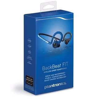 BACKBEAT FIT Blue WIRELESS SPORT HEADPHONES + MIC