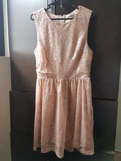 Forver21 Pink Sequined Cocktail Dress
