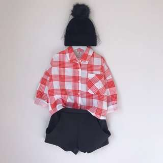 *NEW* Girls checked shirt size 5