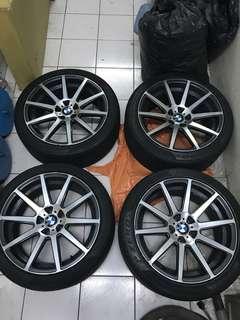 BMW 19吋 前後配鋁圈含倍耐力胎皮 F30 F31 F10 F11 F01 F02 X3 X4