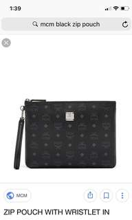 💯MCM Unisex Black Medium Pouch / Clutch