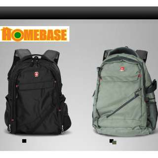 HOMEbase Original Authentic Swiss Gear Design Backpack GREEN COLOUR (bag006)