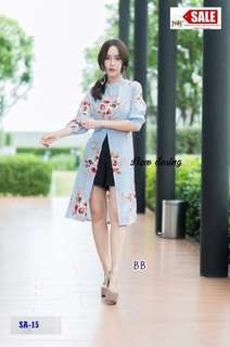 Set floral long top and pants ; f@