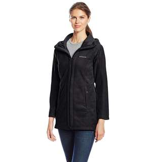 Columbia Women's Benton Springs II Long Hoodie Jacket, Charcoal Heather, Medium