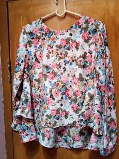 Pink flowery blouse