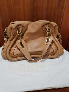 Pre owned: Authentic Chloe Paraty Med in Light Tan