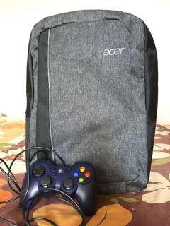 Acer Backpack and Joystick (Logitech)