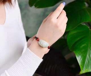 Hetian jade lotus bracelet