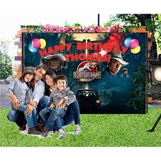Jurassic Park (film)  #Customize Custom BANNER Personalised Personalized Backdrop Background