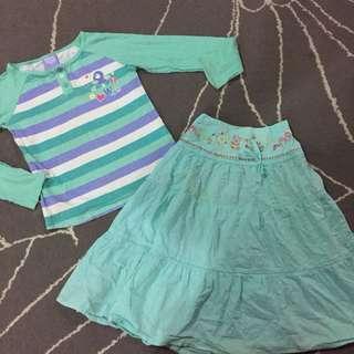tshirt & skirt combo