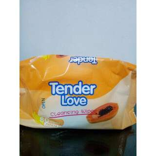 Tender Love Scented Wipes 80 pulls