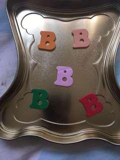 英文字母貼紙